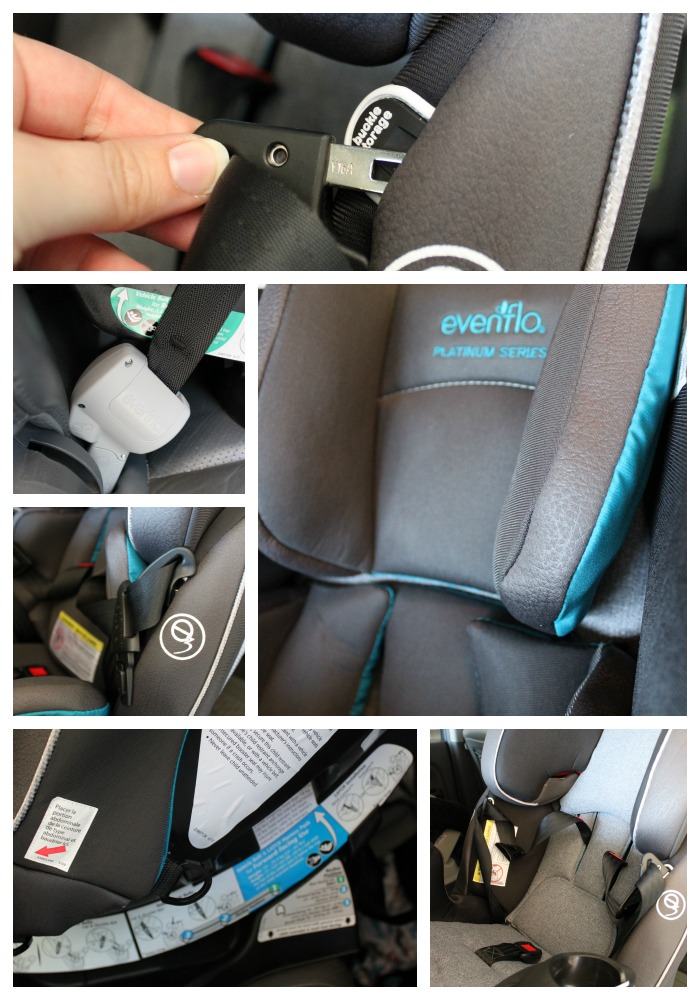 Here are few of the car seat details up close.