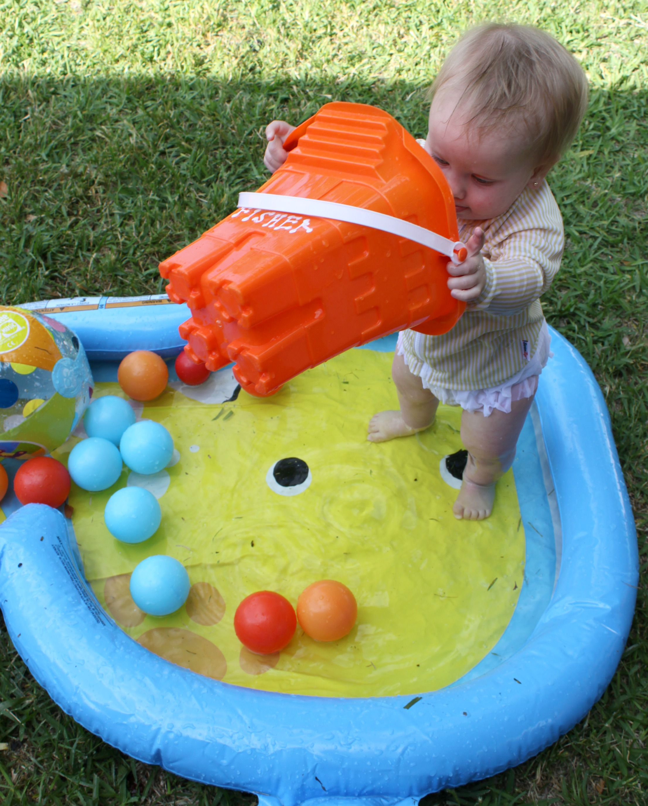 Play Outside Five Fun Games for Your Backyard Kid Pool Bare