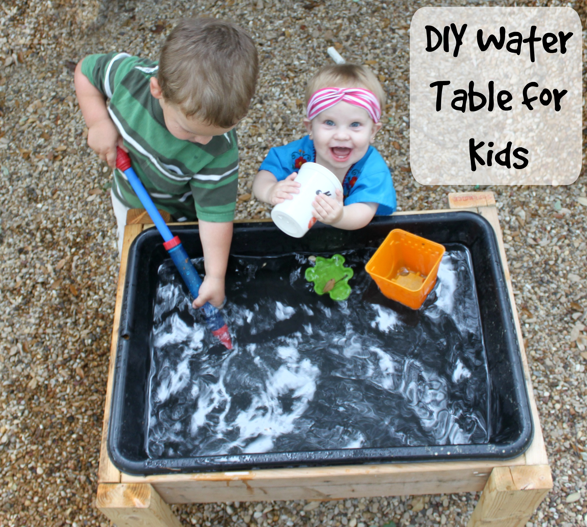 Make a DIY Water Table for Less than Bare Feet on the Dashboard