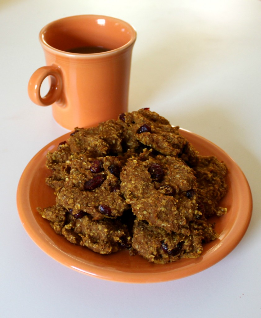 pumpkin spice cranberry cookies healthy