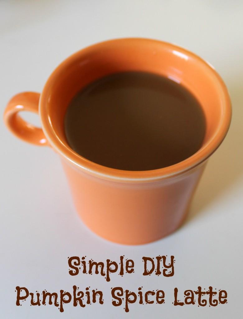 simple diy pumpkin spice latte