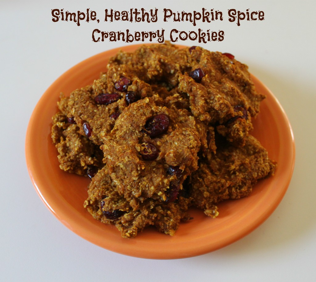 simple pumpkin spice cranberry cookies