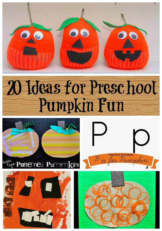 20 Ideas for Preschool Pumpkin Fun