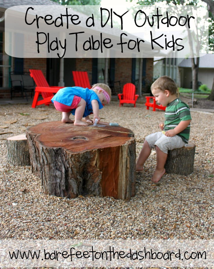 create a diy outdoor play table for kids