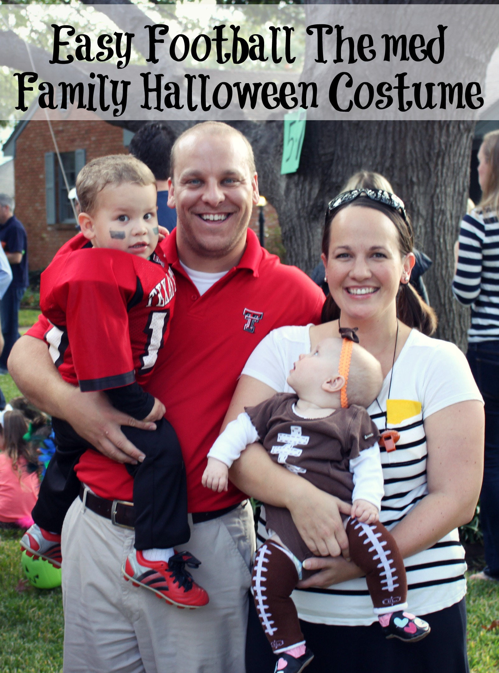 Easy DIY Football Themed Halloween Family Halloween Costumes - Bare