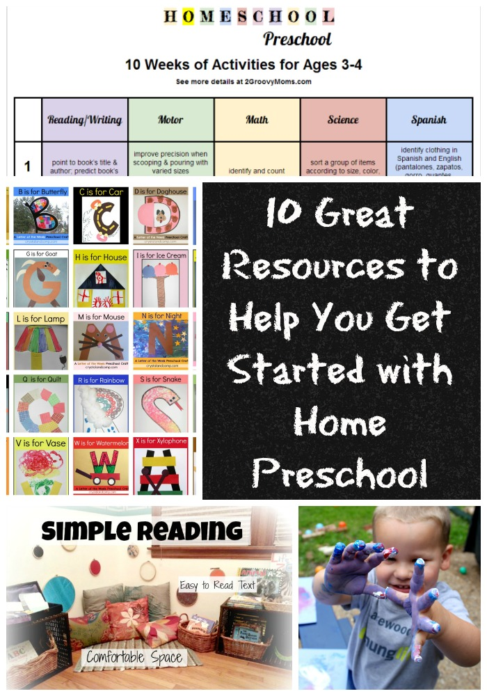 great resources for home preschool
