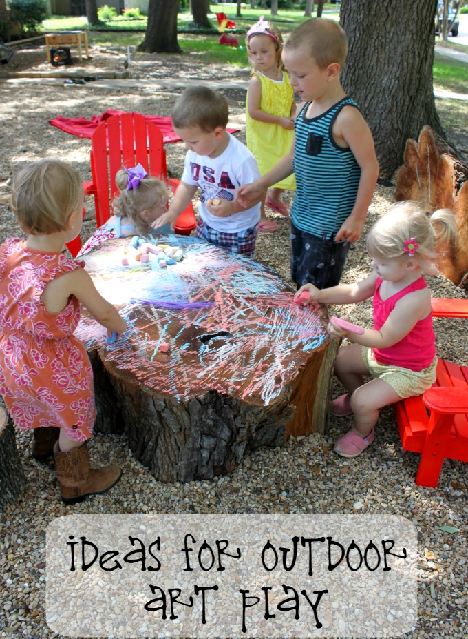 toddler outdoor art play