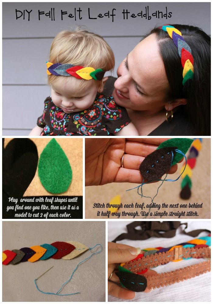 DIY Fall Felt Leaf Headbands Tutorial Easy Mother Daughter Fall Fashion #GoodyGorgeous #Pmedia #ad