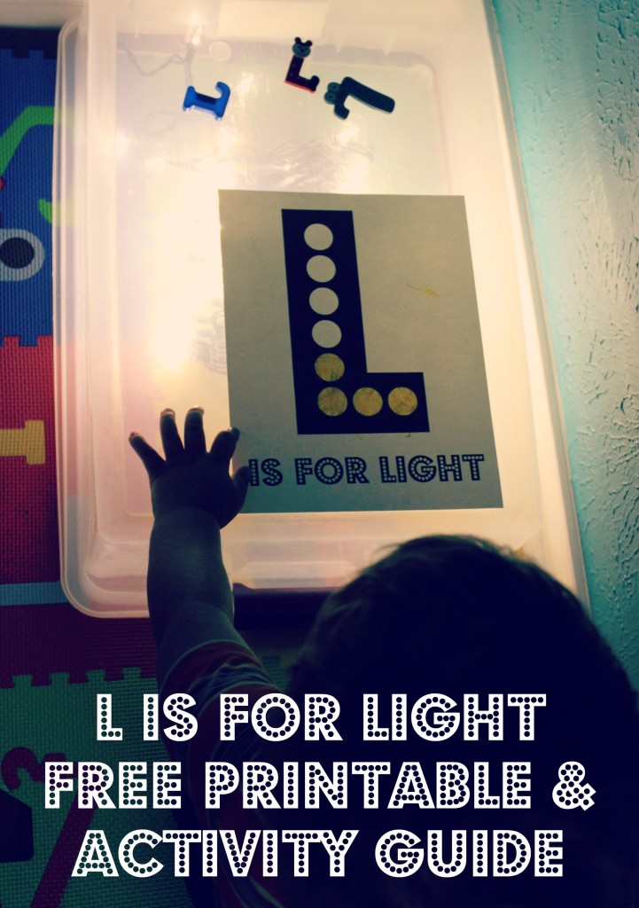 L is for Light Free Printable Activity Guide ABC