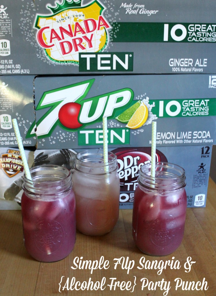 Simple 7Up Sangria and Alcohol Free Party Punch #DrinkTEN #shop #cbias