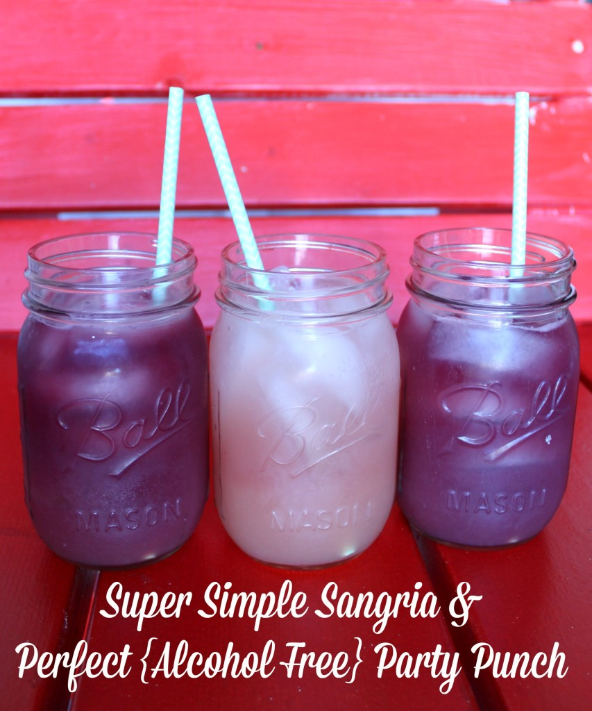 Super Simple Sangria and Perfect {alcohol free} Party Punch #DrinkTEN #shop #cbias