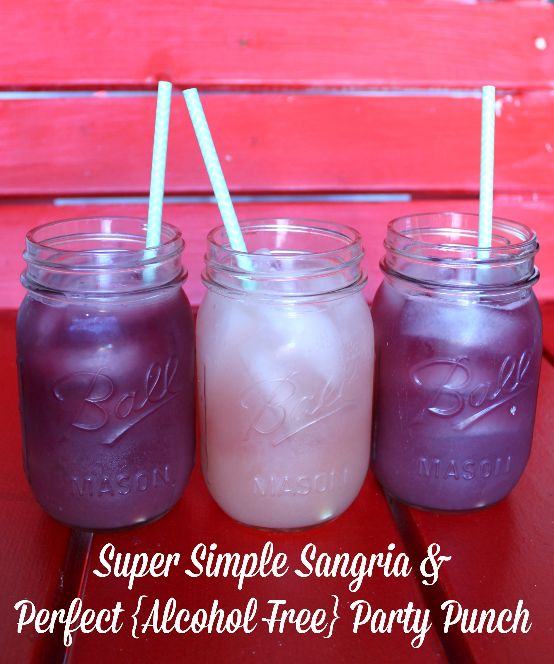 make simple sangria perfect alcohol free party punch bare feet