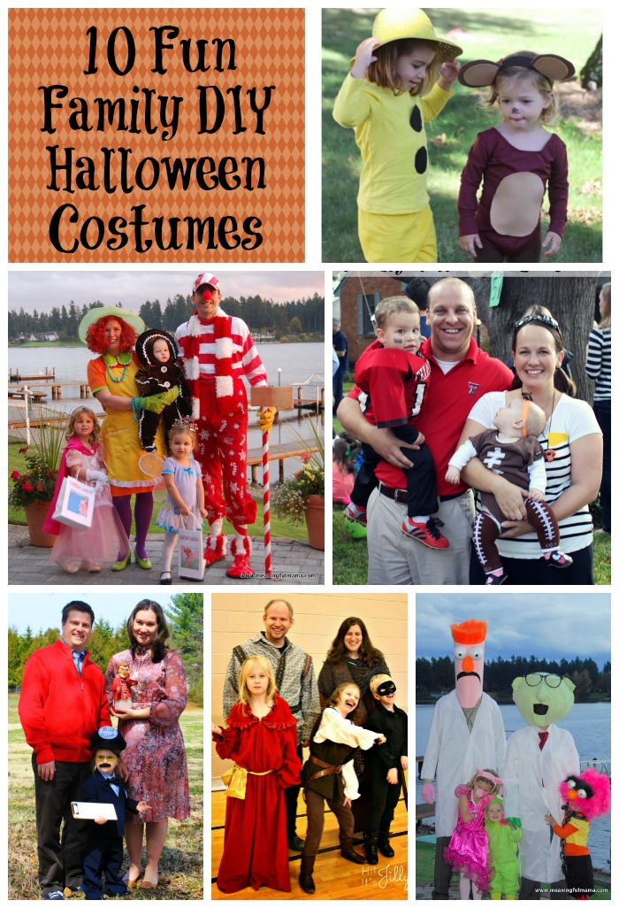 ten fun family diy halloween costumes