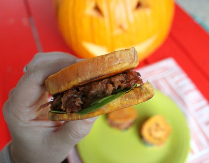 bbq pork sweet potato slider #smokehousebbq #ad