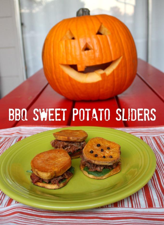 bbq sweet potato sliders #smokehousebbq #ad