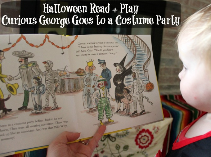 curious george goes to a costume party halloween read and play