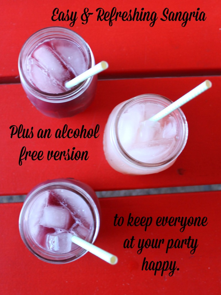 easy refreshing sangria recipe plus an alcohol free version #DrinkTEN #shop #cbias