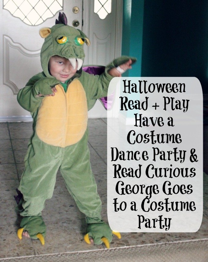 halloween read and play pretend costume dance party