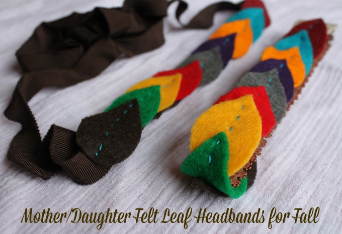 mother daughter felt leaf headbands for fall fashion #goodygorgeous #pmedia #ad
