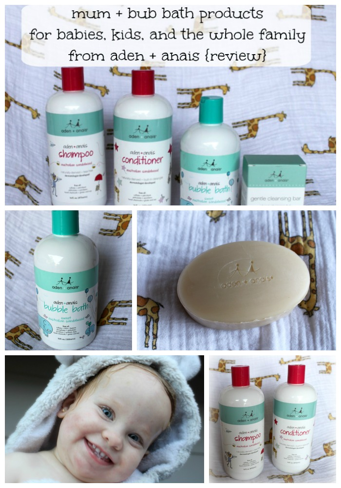 mum and bub bath products from aden and anais review