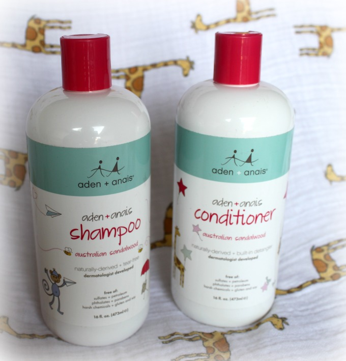 shampoo and conditioner from mum and bub by aden and anais