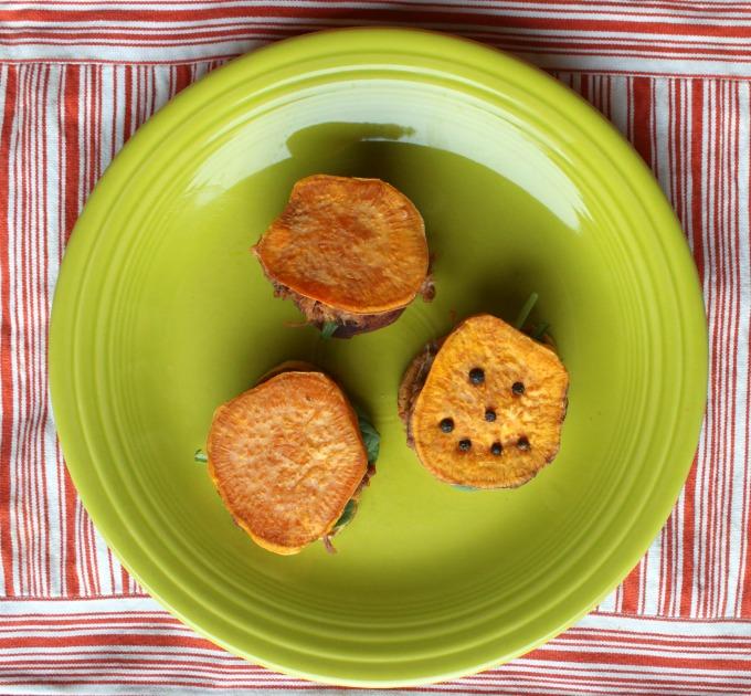 smoky bbq sweet potato sliders #smokehousebbq #ad