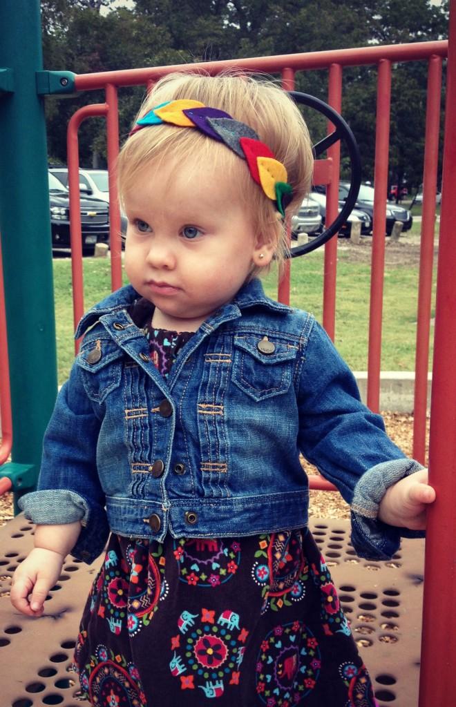 toddler felt leaf headband for fall #goodygorgeous #pmedia #ad
