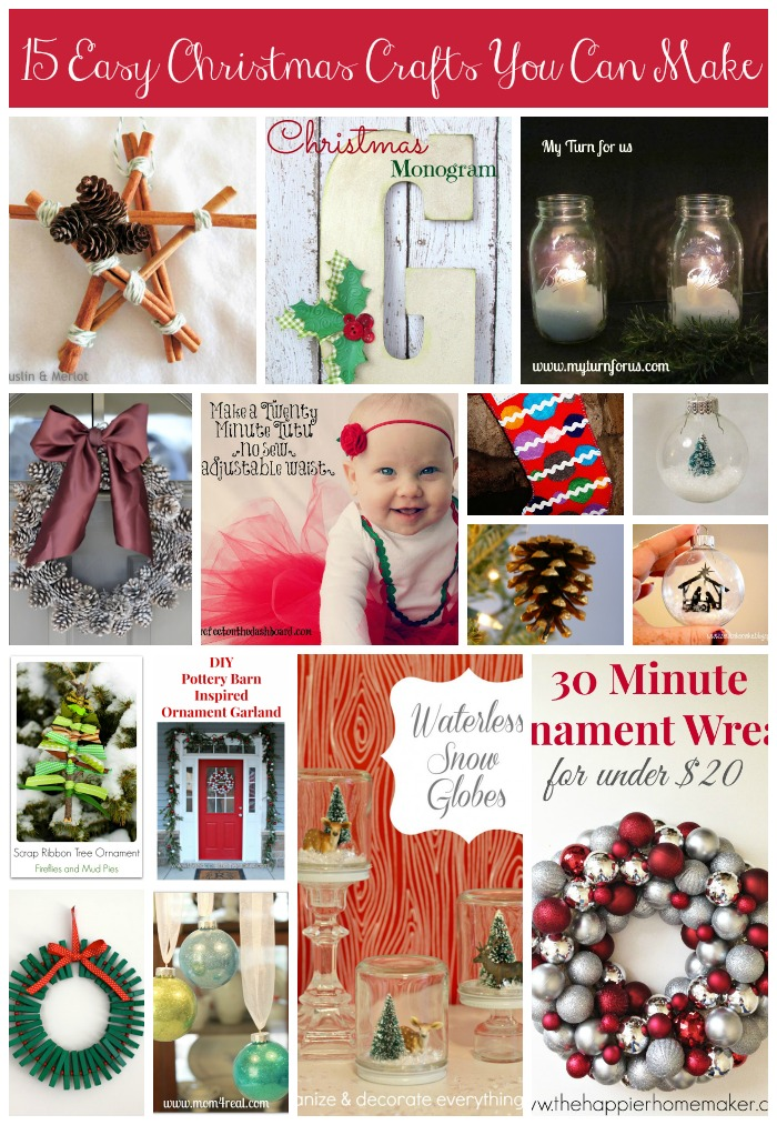 15 Easy Christmas Crafts You Can Make #FestiveFamily #holiday #craft