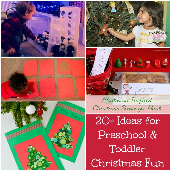 20+ Ideas for Preschool and Toddler Christmas Fun Round Up