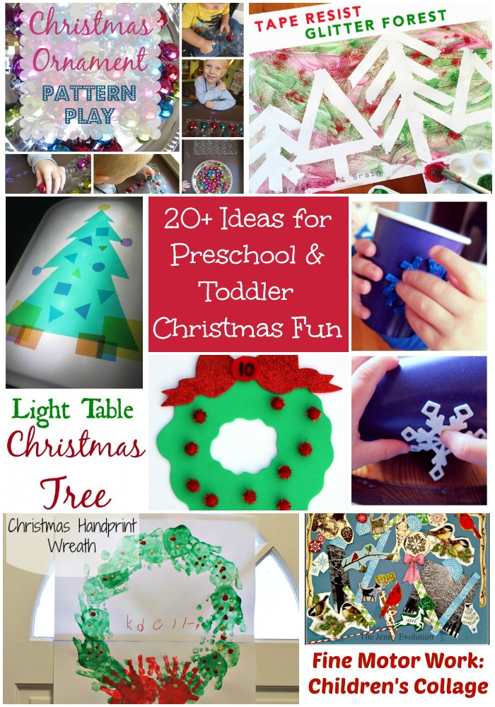 20+ Ideas for Preschool and Toddler Christmas Fun