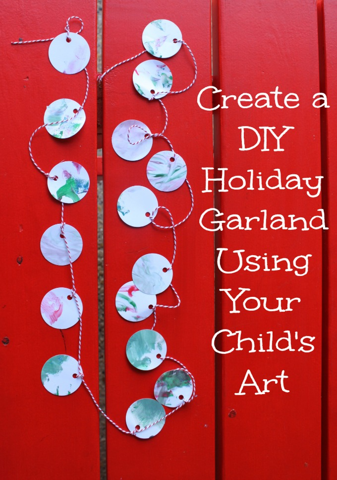 Create a DIY Holiday Garland Using your Child's Art