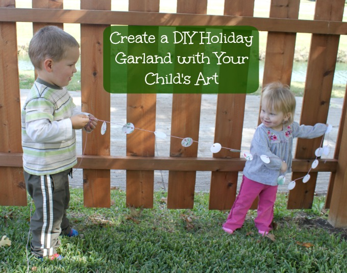 Create a DIY Holiday Garland with your Child's Art