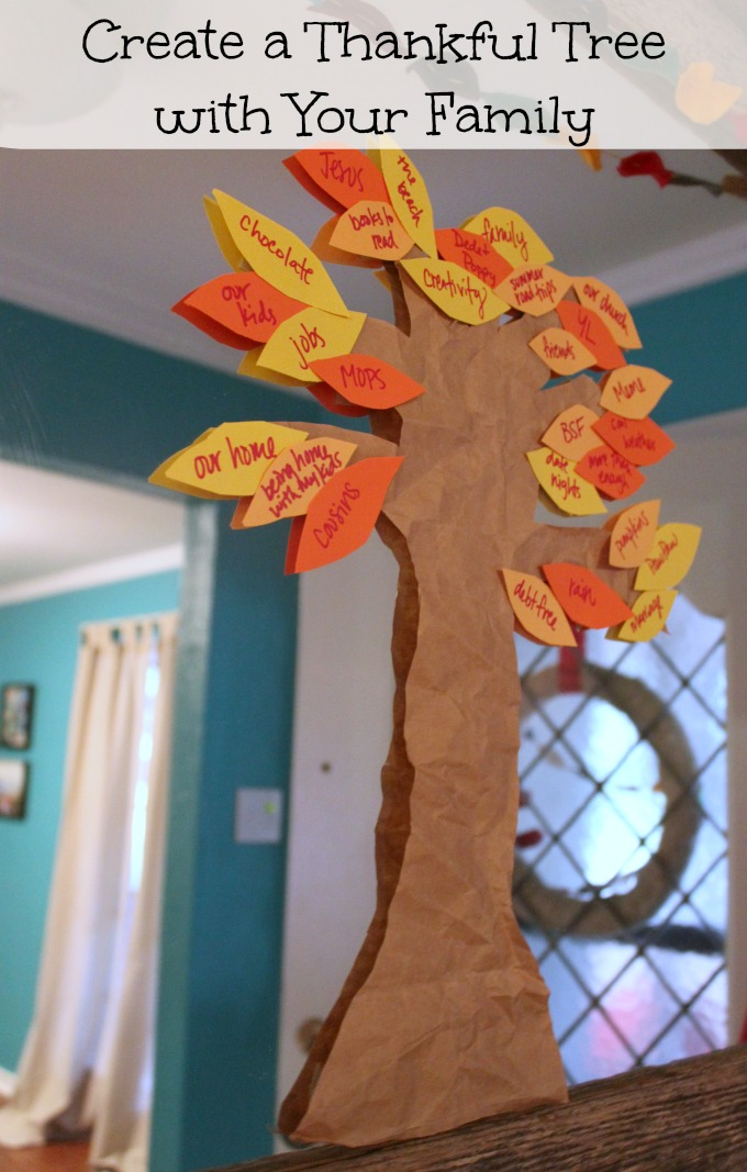 Create a Thankful Tree with Your Family #Thanksgiving #Festive Family