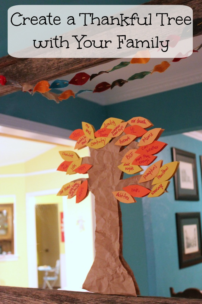 Create a Thankful Tree with Your Family #Thanksgiving