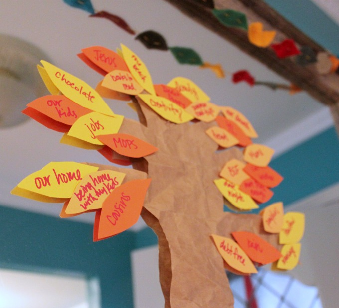 Creating a Thankful Tree with Your Family #Thanksgiving