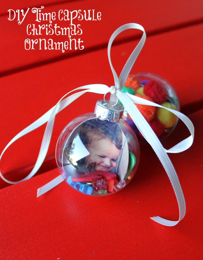DIY Time Capsule Christmas Ornament to Make with Kids