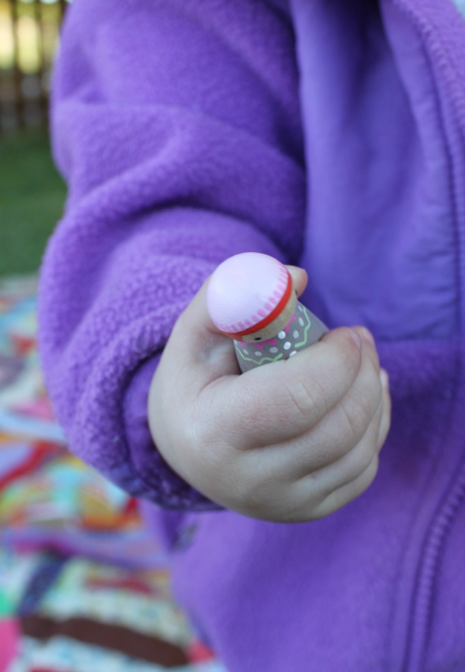 Peg dolls fit perfectly in little hands