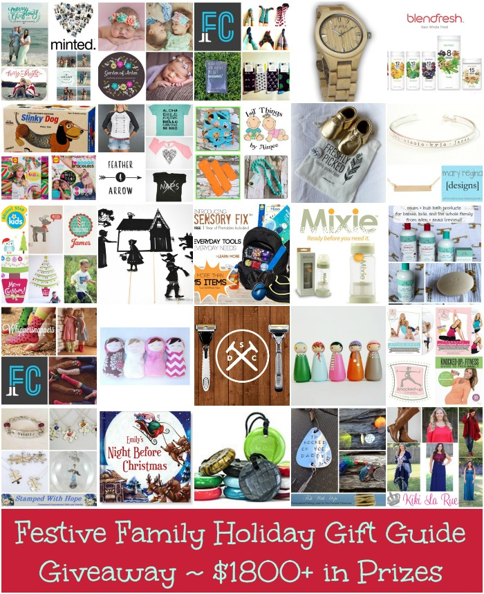 festive family holiday gift guide giveaway $1800 in prizes