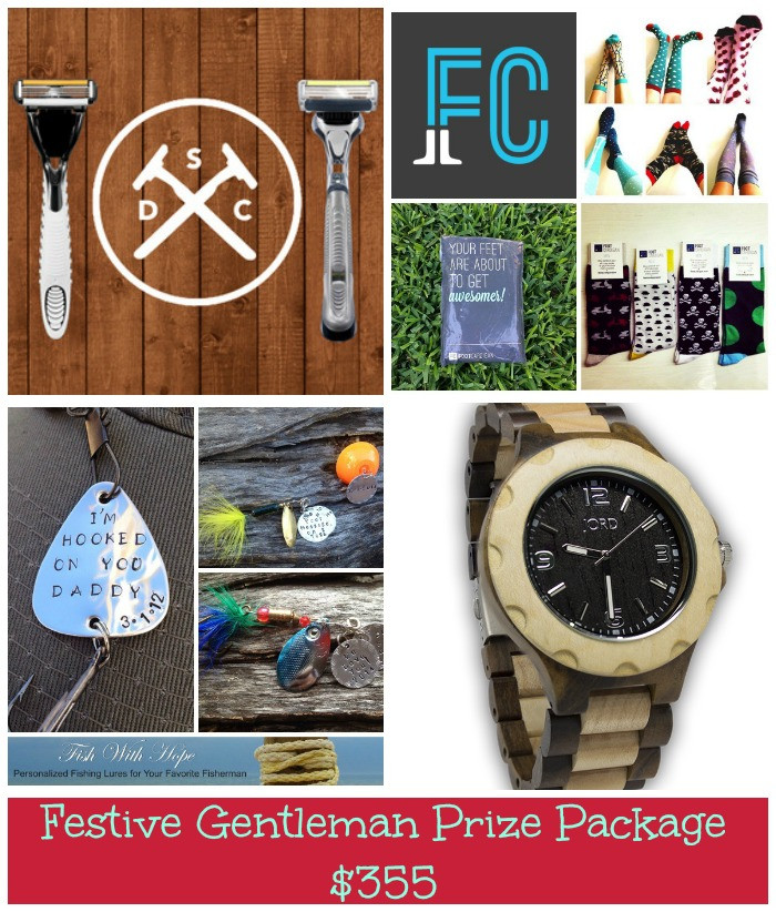 festive gentleman prize package collage