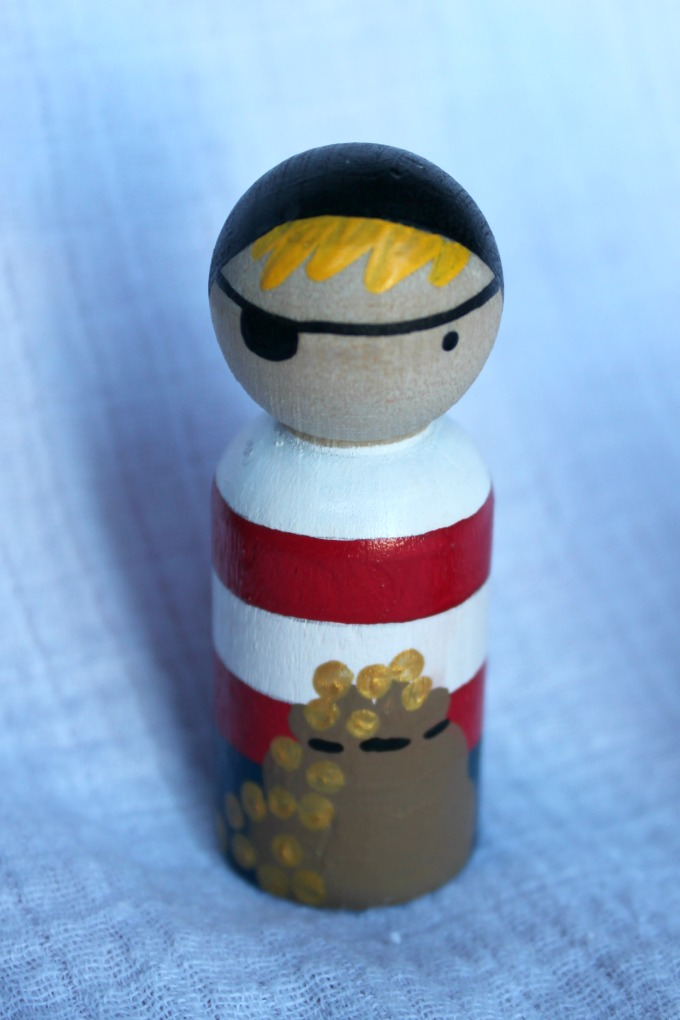 pirate peg doll from peg and plum
