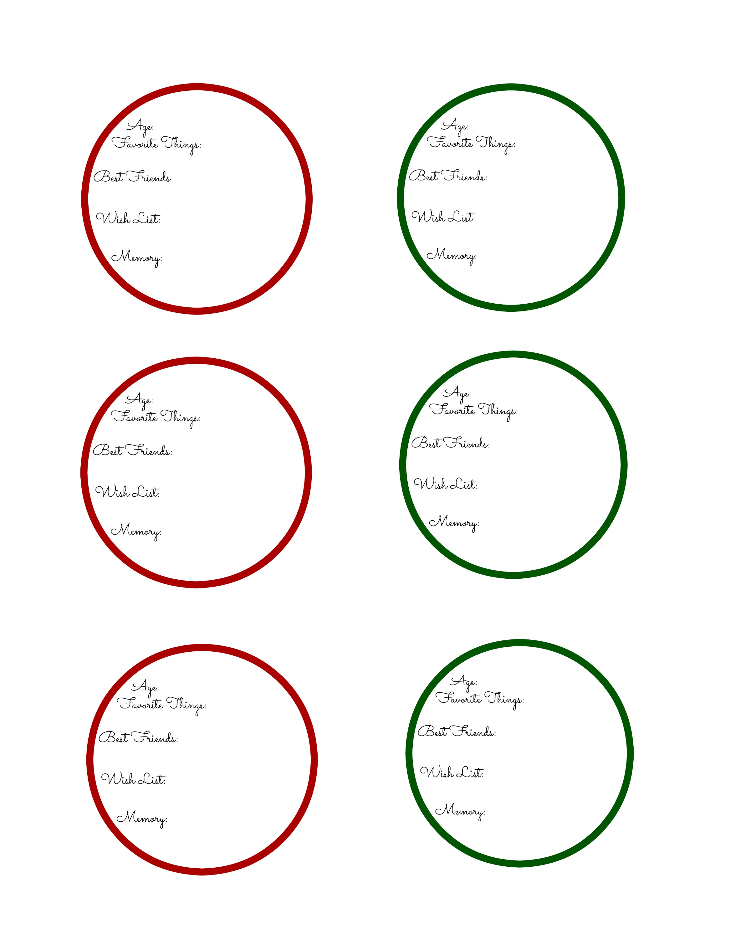 Printable Christmas Ornaments.Festive Activities For Kids Create Time Capsule Christmas
