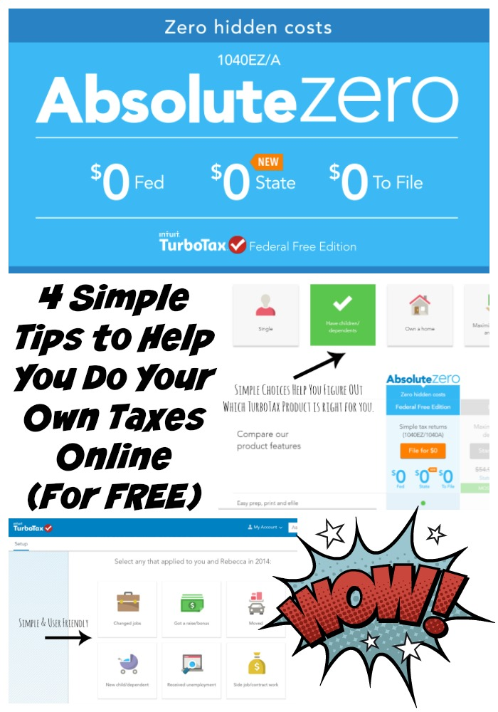 4 Simple Tips to Help You Do Your Own Taxes Online For Free with #TurboTax #Absolute0 #ad