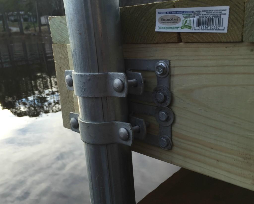 DIY Boat Dock Brackets