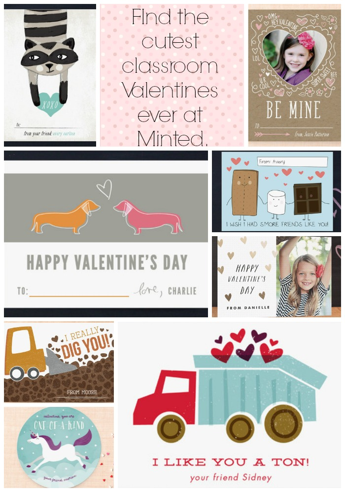 Find the cutest classroom Valentines ever at Minted for your kids.