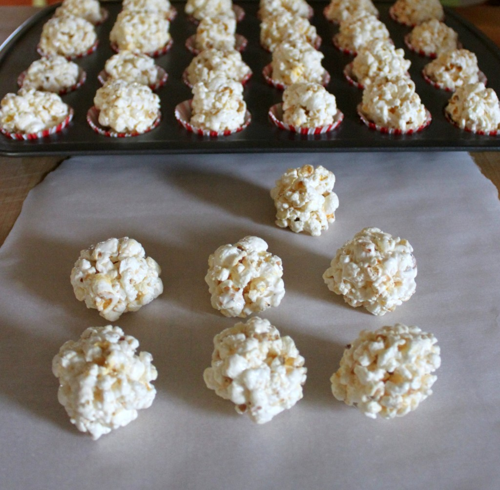 Making popcorn lollipops with Pop Secret Popcorn