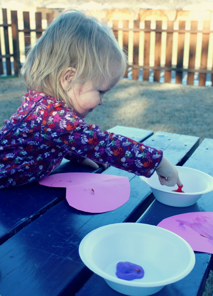 Painting Hearts with Toddlers