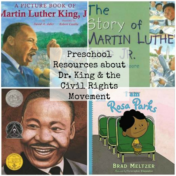 Preschool Resouces about Dr. Martin Luther King and the Civil Rights Movement