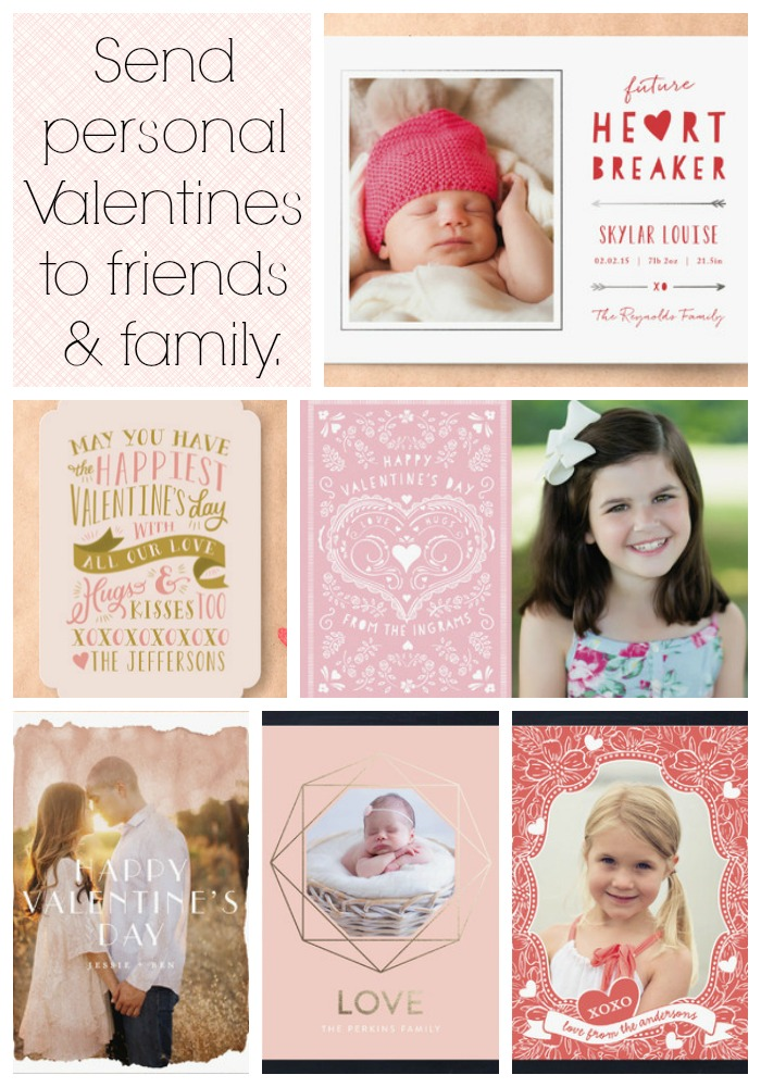 Send personal Valentines to friends and family from Minted.