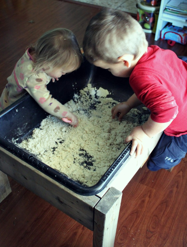 Snow Dough Sensory Play