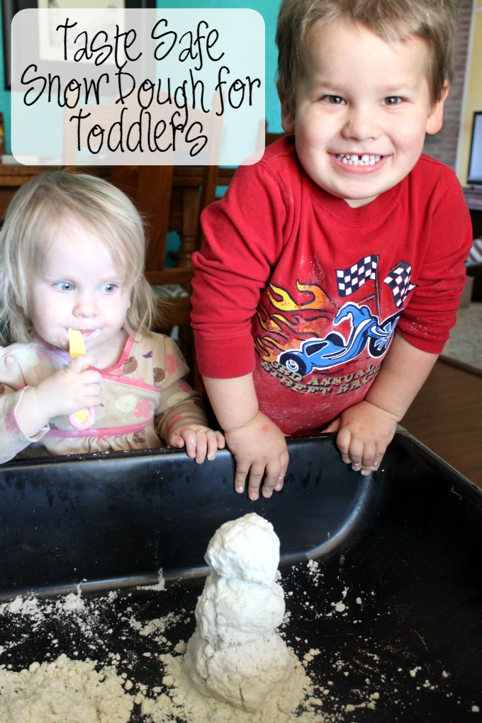 Taste Safe Snow Dough for Toddlers and Preschool
